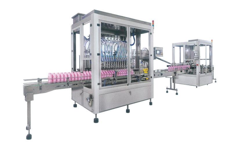 Sanitizing compound filling machine